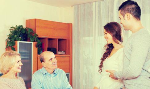 彼氏の親に挨拶する女