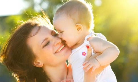 赤ちゃんと女