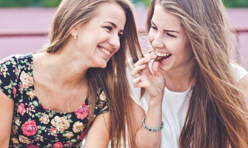 楽しそうな二人の女の子