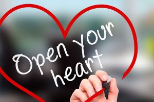 open your heartの文字