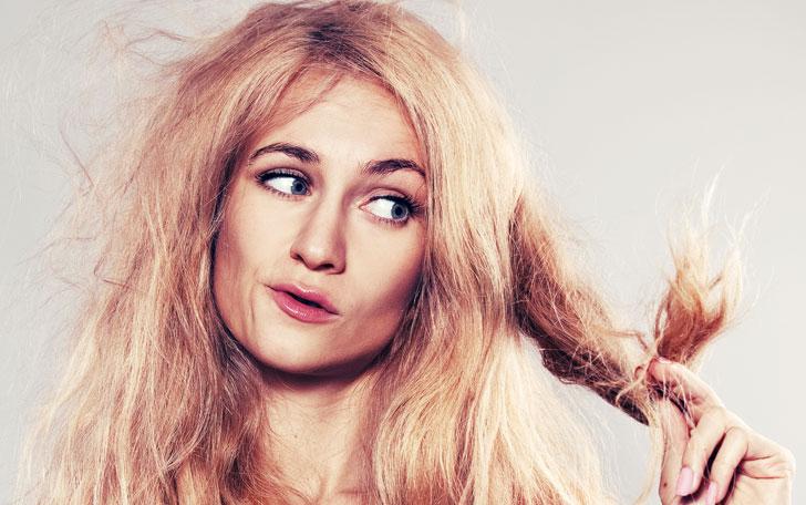 バサバサ髪の女