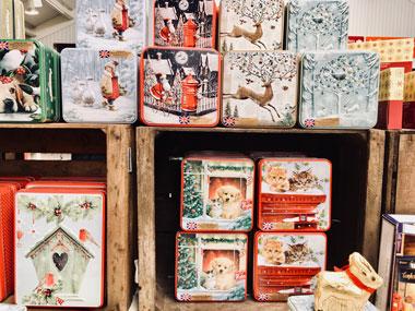 クリスマス柄のパッケージ