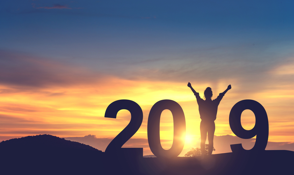 2019年の年賀状イラスト