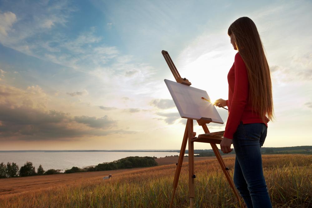 想像で絵を描く夢