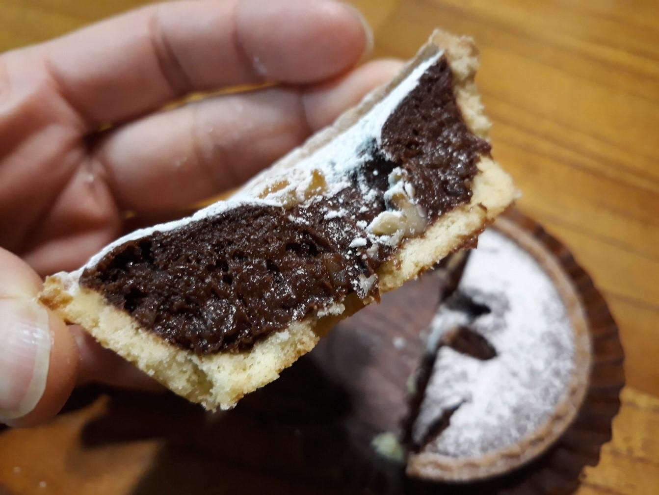 チョコブラウニーが濃厚でとろける食感。クルミ入り