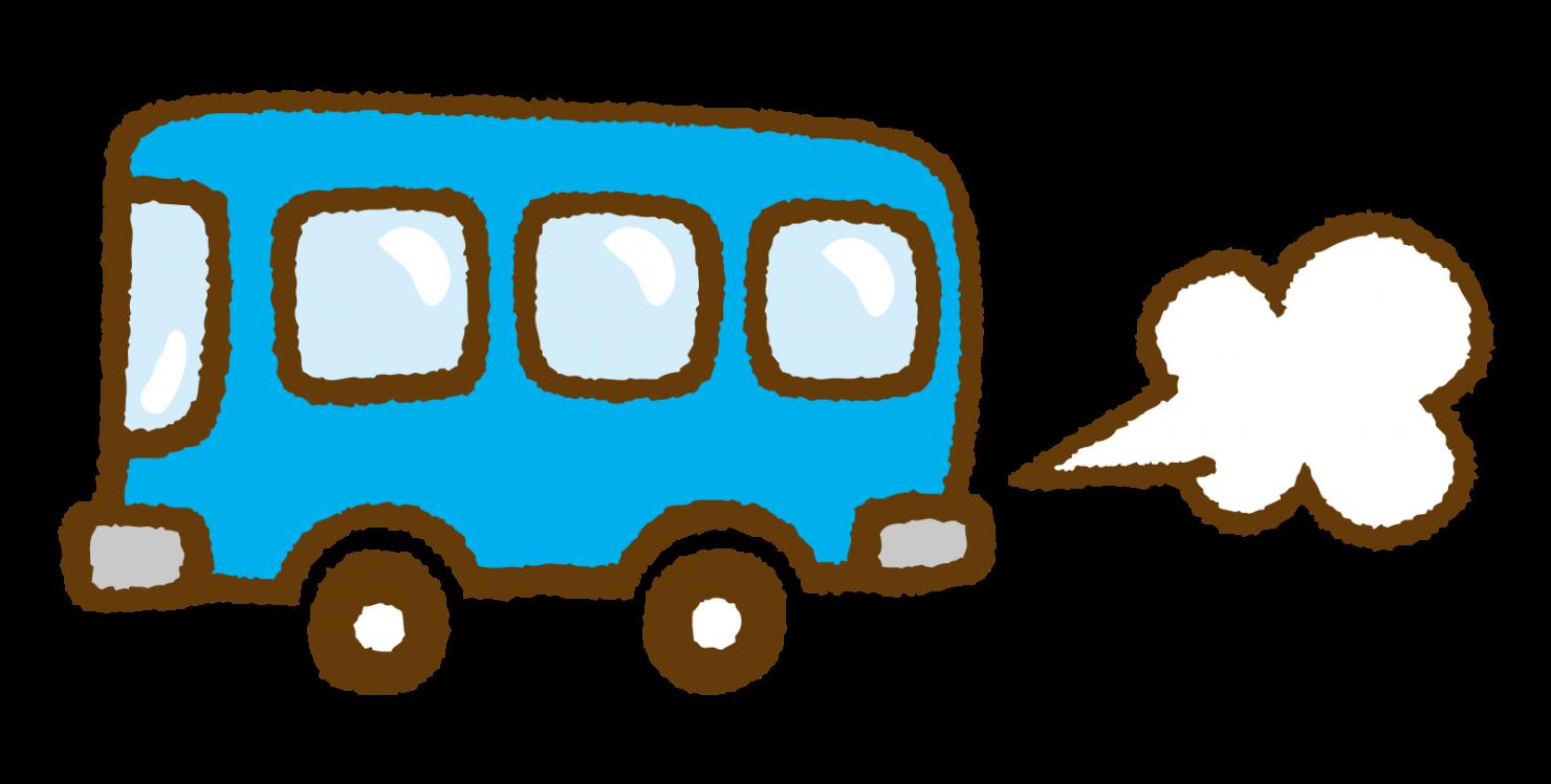 手書き風バスのイラスト